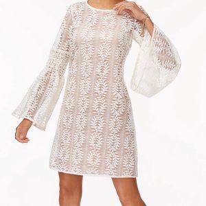 Michael Kors Lace Bell Sleeve Dress - XS